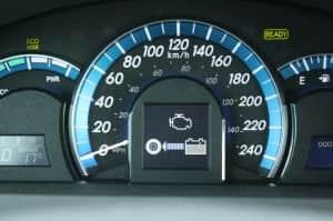 2012 Toyota Camry Hybrid speedometer