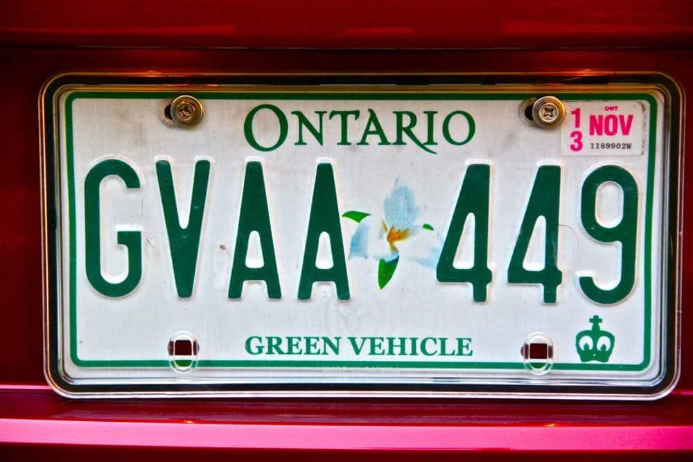 "2012 Nissan Leaf ""Green"" plate"