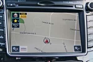 2013 Hyundai Elantra GT navigation screen