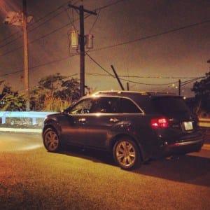2012 Acura MDX Elite rear 1/4