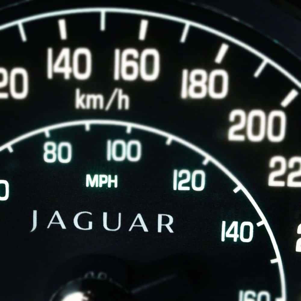 2012 Jaguar XKR speedometer