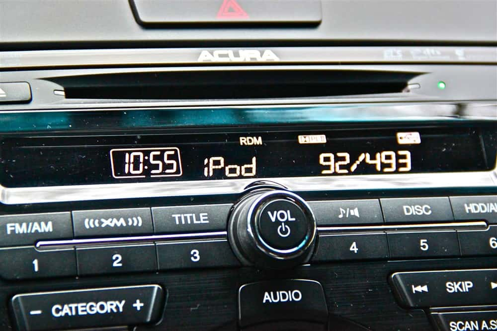 2013 Acura RDX Tech stereo display