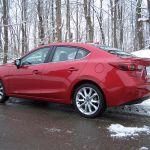 2014 Mazda3 GT Sedan rear side profile