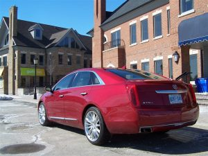 2014 Cadillac XTS Vsport rear 1/4