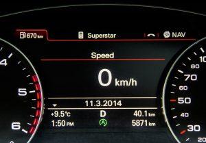 2014 Audi A6 TDI instrument cluster