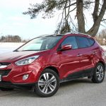 2014 Hyundai Tucson Limited front 1/4