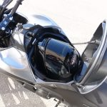 2014 Honda NC750X helmet in gas tank