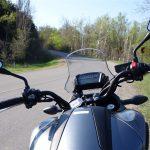 2014 Honda NC750X instrument cluster and handlebars