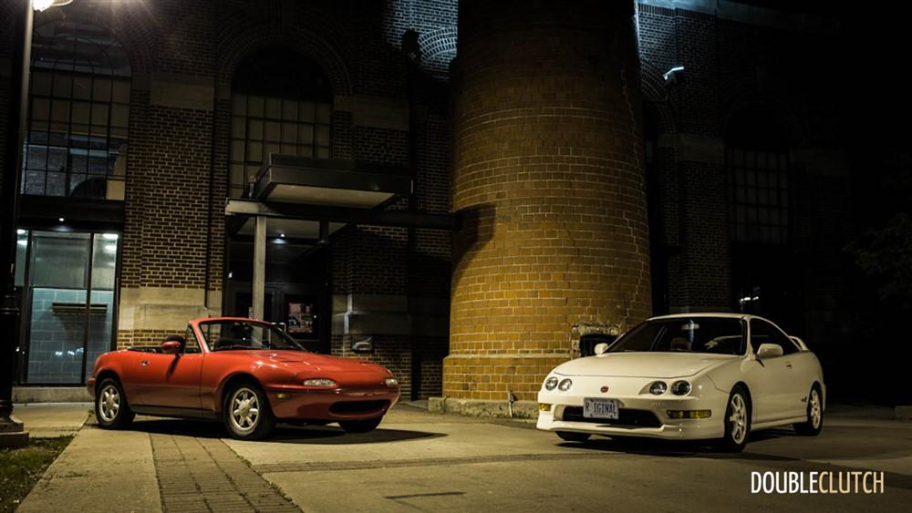 Photoshoot of the Day – 2001 Acura Integra Type-R vs. 1990 Mazda MX-5 Miata