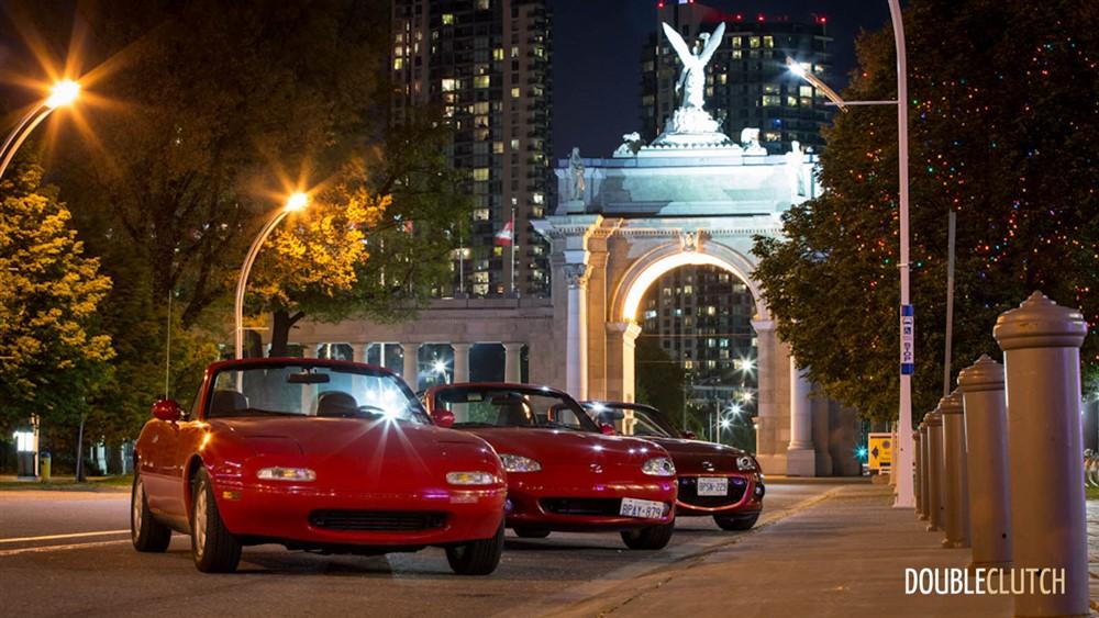 Photoshoot of the Day – Three Generations of Mazda Miata