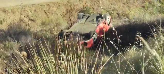 Video: Ferrari 360 Takes a Tumble