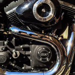2014 Harley-Davidson Fat Bob engine portrait