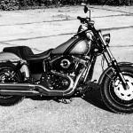 2014 Harley-Davidson Fat Bob black & white