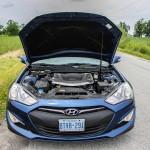 2014 Hyundai Genesis Coupe 3.8GT hood open