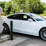 2014 Audi A7 TDI at the pump