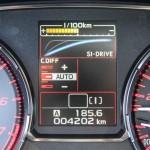 2015 Subaru WRX STi instrument cluster display