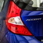 2014 Hyundai Accent GLS rear 1/4 taillight