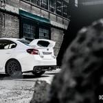 2015 Subaru WRX STi rear rock view