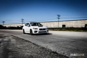 2015 Subaru WRX STi rolling front 1/4