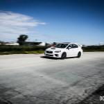 2015 Subaru WRX STi side front 1/4