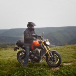 2014 Yamaha FZ-09 with rider