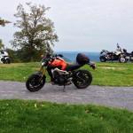 2014 Yamaha FZ-09 front 1/4