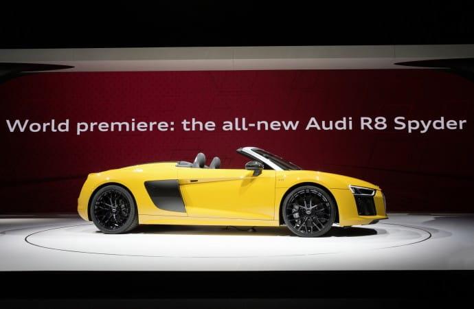 The Audi R8 Spyder debuts in New York