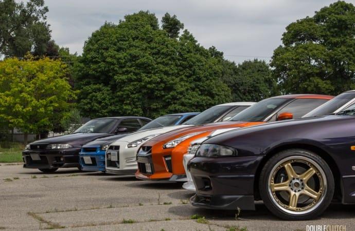 Photoshoot: Four Generations of Nissan Skyline